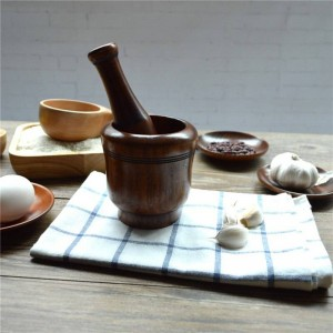 Molinos trituradores de ajo de madera para sal / pimienta / fruta / verdura Suministros de cocina de madera ecológicos Aderezo molido