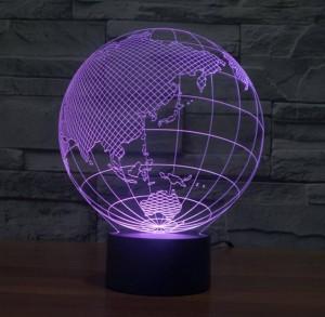 Mapa del mundo con forma táctil Nuevas luces nocturnas Globo con forma de mapa acrílico Lámpara de ilusión 3D para niños Decoración de dormitorio para niños Lámpara de noche led
